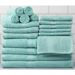 Mainstays Mainstrays Basic Bath Collection 18-Pc. Towel Set for $25