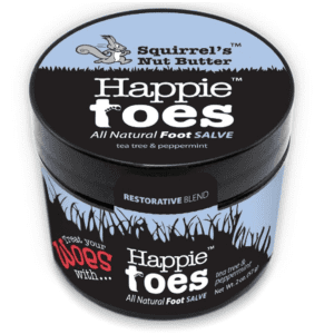 Squirrels Nut Butter Happie Toes Salve 2-oz. Container for $7