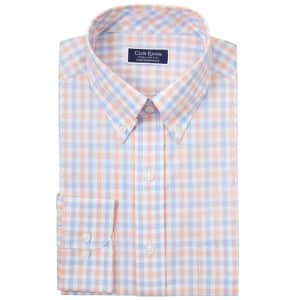 Club Room Men's Gingham Check Dress Shirt for $9