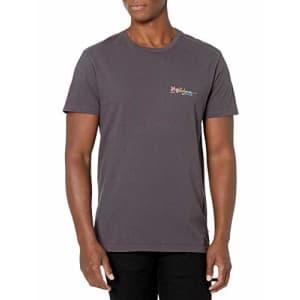 Billabong Men's Short Sleeve Premium Logo Graphic Tee T-Shirt, Charcoal, SM for $15