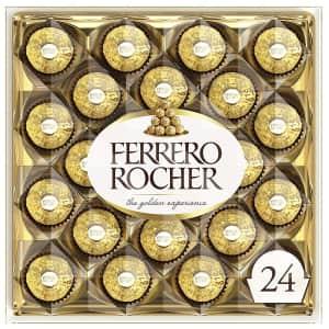 Ferrero Rocher 24-Count Hazelnut Milk Chocolates for $20