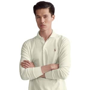 Polo Ralph Lauren Men's Classic-Fit Long Sleeve Soft Cotton Polo for $37