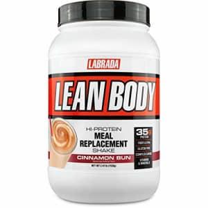Labrada Nutrition Lean Body Hi-Protein Meal Replacement Shake, Cinnamon Bun, 2.47 Pound for $36