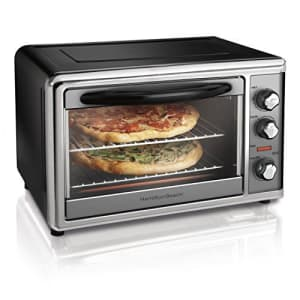 Hamilton Beach Countertop Rotisserie Convection Toaster Oven, Large, Stainless Steel (31107D) for $160