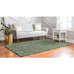 Unique Loom Davos Collection Modern Luxuriously Soft & Cozy Shag Area Rug, 5' 0 x 8' 0 Rectangular, for $111