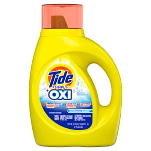 Tide Simply + Oxi 31-oz. Liquid Laundry Detergent for $2