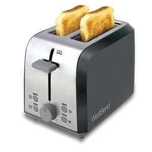 West Bend 78823 Extra Wide Slot Toaster with Bagel Settings Ultimate Toast Lift and Removable Crumb for $36