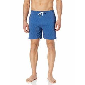 Marc Joseph New York Men's Lexington Quick Dry Swim Trunks with Mesh Lining, Navy, Small for $49