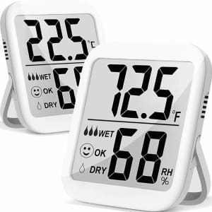 Antonki Temperature and Humidity Gauge 2-Pack for $8