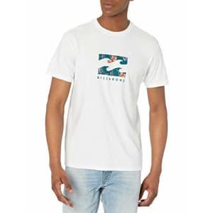 Billabong Men's Classic Short Sleeve Premium Logo Graphic Tee T-Shirt, Team Wave White, Small for $25