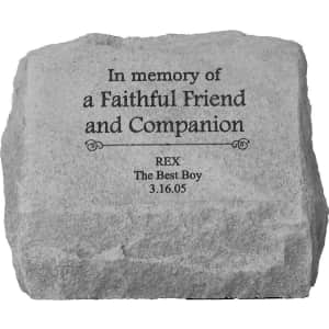 Kay Berry Personalized Pet Memorial Stones & Urns at Chewy: at least 15% off