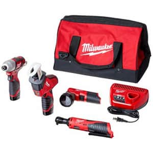 Milwaukee 2498-25 M12 12-Volt Lithium-Ion Cordless Combo Kit (5-Tool) with (2) 1.5Ah Batteries, for $700