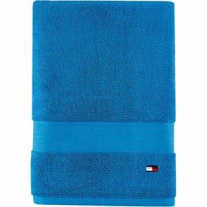 Tommy Hilfiger 100% Cotton Modern American Bath Towel, 30 x 54 inch, Swedish Blue for $16