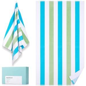 Wiikweek Cotton Beach Towel for $8