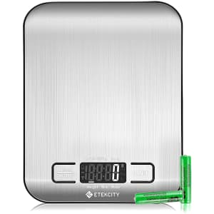 Etekcity Stainless Steel Food Kitchen Scale for $9