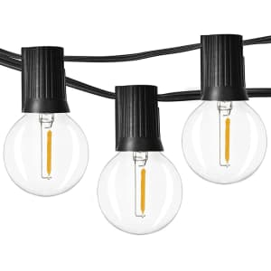 Newpow 48-Foot Dimmable Outdoor String Lights for $20