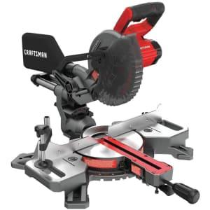 """Craftsman V20 7.25"""" Sliding Compound Cordless Miter Saw for $229"""