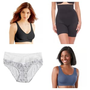 Women's Bras, Panties, and Shapewear at Kohl's: Up to 75% off + extra 20% off + extra $10 off $50