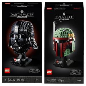 LEGO Star Wars: Darth Vader & Boba Fett Helmet for $105