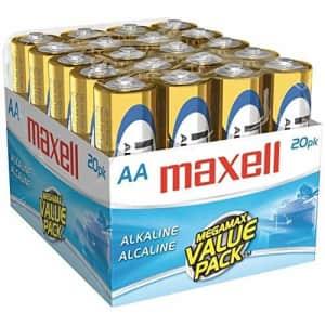 Maxell 20 pk AA Alkaline Batteries for $20