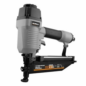 "NuMax SFN64 Pneumatic 16-Gauge 2-1/2"" Straight Finish Nailer Ergonomic and Lightweight Nail Gun for $50"