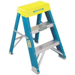 Werner 6002 6000 Step Ladder, 250 Lb, 3 in, 3-1/8 in Front X 1-3/4 in Rear, 2-Foot for $60