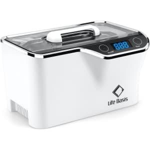 LifeBasis 600ML Ultrasonic Cleaner for $40