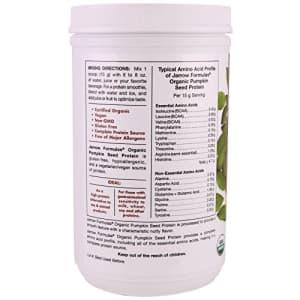 Jarrow Formulas Organic Pumpkin Seed Vegan Protein Powder, Complete Amino Acids, 16 oz. (454 g) for $25