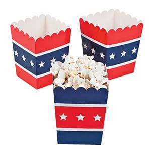 Fun Express Patriotic Popcorn Boxes (24 pc) for Fourth of July Party Supplies for $18