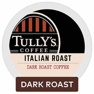 Tully's Coffee Italian Roast, Single-Serve Keurig K-Cup Pods, Dark Roast Coffee, 72 Count for $13