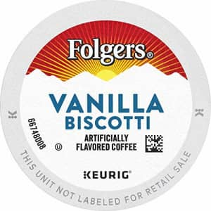 Folgers Vanilla Biscotti Flavored Coffee, 72 K Cups for Keurig Coffee Makers for $39