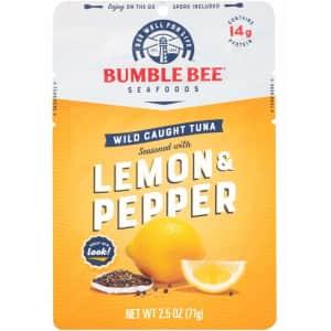 Bumble Bee Lemon & Pepper Seasoned Tuna 2.5-oz. Pouch 12-Pack for $9.77 via Sub & Save
