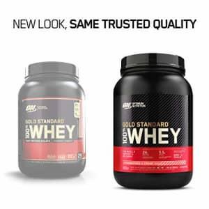 Optimum Nutrition Gold Standard 100% Whey Protein Powder, Strawberry & Cream, 2 Pound (Packaging for $57