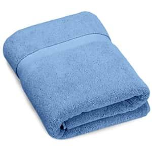 Amazon Brand Pinzon Heavyweight Luxury Cotton Bath Towel - 56 x 30 Inch, Marine for $22