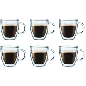 Bodum Bistro 10-oz. Coffee Mug 6-Pack for $48