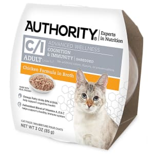 Authority Advanced Wellness 3-oz. Shredded Wet Cat Food for 37 cents