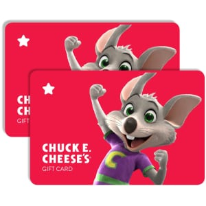 $50 Chuck E Cheese Gift Card for $38 for members