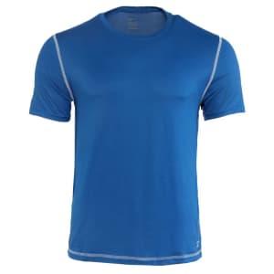 Reebok Men's Short Sleeve Soft Sport Crew T-shirt for $7