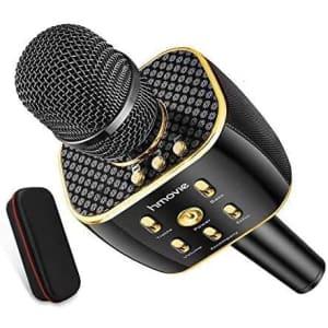 Hmovie Bluetooth Karaoke Microphone for $25