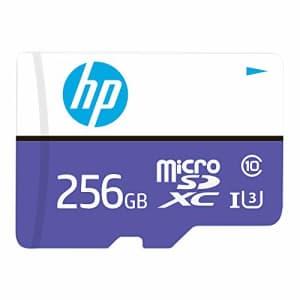 HP MX330 Class 10 U3 MicroSDXC Flash Memory Card, 256GB (P-SDU256U3100HPMX-GE) for $36