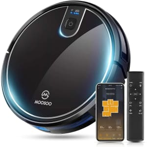 Moosoo Robot Vacuum with Mapping for $109