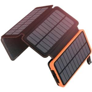 Addtop 25,000mAh Portable Solar Power Bank for $46