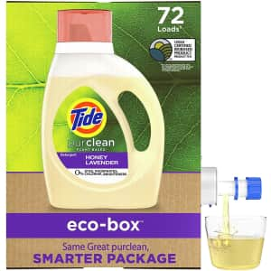Tide Purclean Plant-Based EPA Safer Choice Liquid Laundry Detergent Soap Eco-Box for $14 via Sub & Save