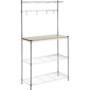 AmazonBasics Baker's Rack w/ Wood Table for $88