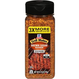 McCormick Grill Mates Brown Sugar Bourbon Seasoning 9.75-oz Bottle for $3.88 via Sub. & Save