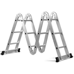Costway 12.5-Foot Aluminum Folding Scaffold Ladder for $95