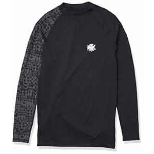 Quiksilver Men's MA Kai Long Sleeve Rashguard UPF 50+, Black, S for $35