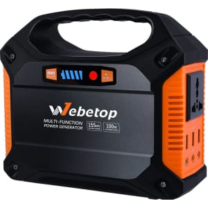 Webetop 155Wh 42,000mAh Portable Power Station for $79