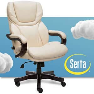 Serta Big and Tall Executive Office Chair with Wood Accents Adjustable High Back Ergonomic Lumbar for $736