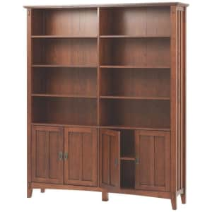 """Home Decorators Collection Artisan 69"""" 8-Shelf Double Bookcase for $605"""